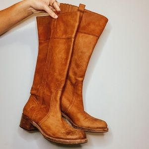 Lucky Brand Brown Suede Riding Boots
